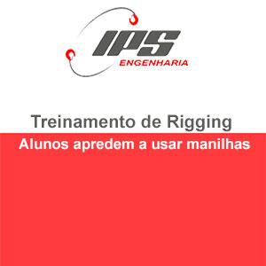 Treinamento de Rigging - Alunos aprendem a usar manilhas
