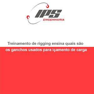 Treinamento de rigging ensina quais são os ganchos usados para içamento de carga